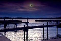 Scène d'éclipse solaire images stock