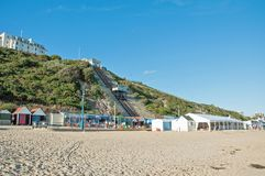 Scène d'été sur la plage de Bournemouth Images stock