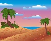 Scène d'été, vecteur illustration de vecteur