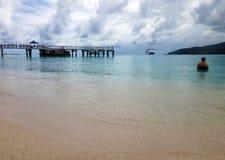 Scène d'île de mystère, Aneityum, Vanuatu images libres de droits
