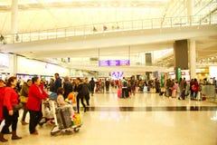 Scène d'aéroport de Hong Kong Photos stock
