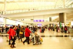 Scène d'aéroport de Hong Kong Image libre de droits