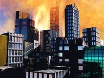 Scène d'Armageddon dans la ville illustration stock