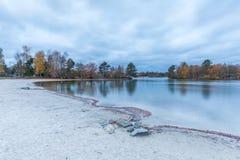 Scène d'automne au bord de lac en De Kempervennen, le Brabant-Septentrional, Photos libres de droits
