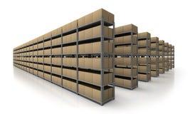 Scène d'entrepôt dans le point de vue Image stock