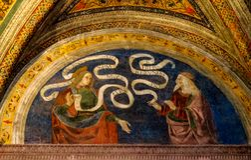 Scène d'histoire de catholicisme à l'intérieur de Vatican Basilic photos libres de droits