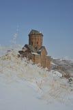 Scène d'hiver dans l'Ani - église de St Gregory Photographie stock