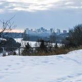 Scène d'hiver dans le Canada Images libres de droits