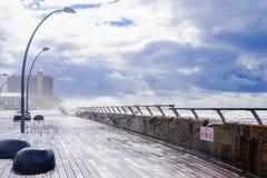 Scène d'hiver, dans le port de Tel Aviv photo libre de droits