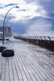 Scène d'hiver, dans le port de Tel Aviv photo stock