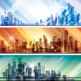 Scène d'horizontal de ville Image libre de droits