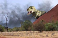 Scène d'illustration de dinosaure de TRex de tyrannosaure illustration de vecteur