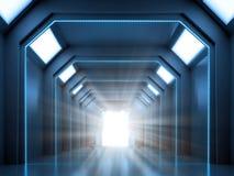 Scène d'intérieur de la science-fiction photo stock
