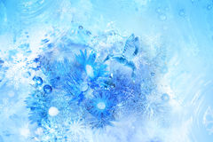 Scène d'oiseau de glace Image libre de droits
