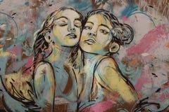Graffiti sur le mur de Rome Photo stock