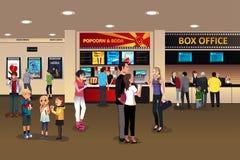 Scène dans le lobby de salle de cinéma illustration libre de droits