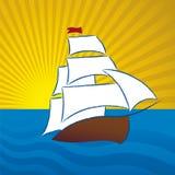 Scène de bateau Photos libres de droits