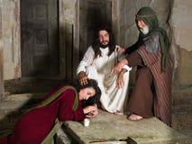 Scène de bible avec Mary de Bethany photographie stock libre de droits