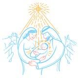 Scène de bible d'icône la nativité illustration de vecteur