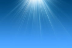 Scène de bleu de rayons légers illustration stock