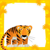Scène de cadre de bande dessinée - tigre Photos libres de droits