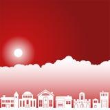 Scène de ciel de jour - voisinage Images libres de droits