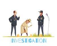 Scène de composition de crime illustration stock