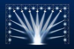 Scène de concert Photos libres de droits