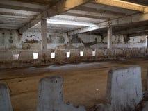 Scène de construction vide et abandonnée intérieure 2 Image stock