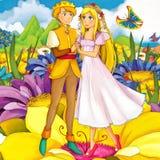 Scène de conte de fées de bande dessinée - illustration pour les enfants Photos stock