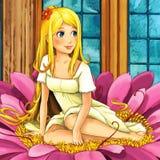 Scène de conte de fées de bande dessinée - illustration pour les enfants Image stock