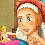 Scène de conte de fées de bande dessinée - illustration pour les enfants Photographie stock libre de droits