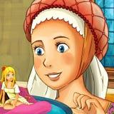 Scène de conte de fées de bande dessinée - illustration pour les enfants Photographie stock