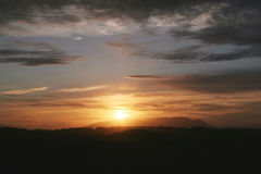Scène de coucher du soleil Photographie stock libre de droits