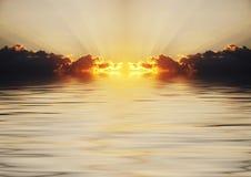 Scène de coucher du soleil Photographie stock