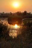 Scène de coucher du soleil Images stock