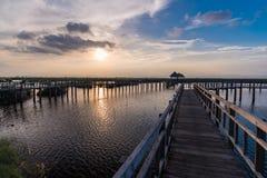 Scène de coucher du soleil au bondon Bua Photo stock