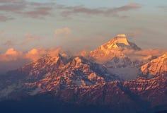 Scène de coucher du soleil au-dessus de Nanda Kot Photo libre de droits