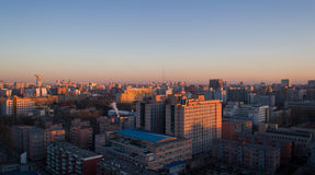 Scène de coucher du soleil de ville de Pékin Images stock
