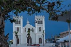 Scène de coucher du soleil en Isabella Plaza, Porto Rico Photographie stock libre de droits