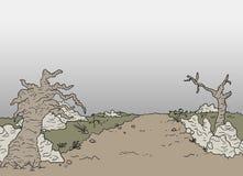 Scène de désert Image libre de droits