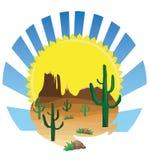 Scène de désert Photos libres de droits