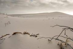 Scène de désert avec les cieux bleus supplémentaires Photographie stock