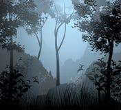 Scène de forêt de nuage Image libre de droits