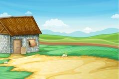 Scène de grange illustration de vecteur