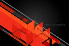 Scène de graphiques de mouvement de forme de triangle Photographie stock libre de droits
