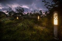 Scène de HDR de parc de Tongva Photographie stock