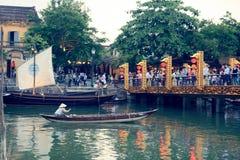 Scène de Hoi An Bridge photos libres de droits