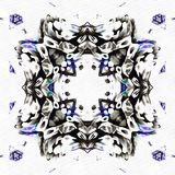 Scène de kaléidoscope de batik reflétée Photographie stock