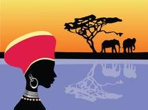 Scène de l'Afrique Photographie stock